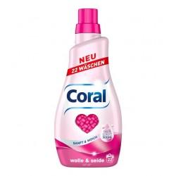 Coral Wolle & Seide Gel...